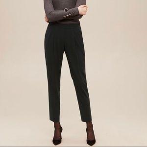 Babaton black pleated dress pants